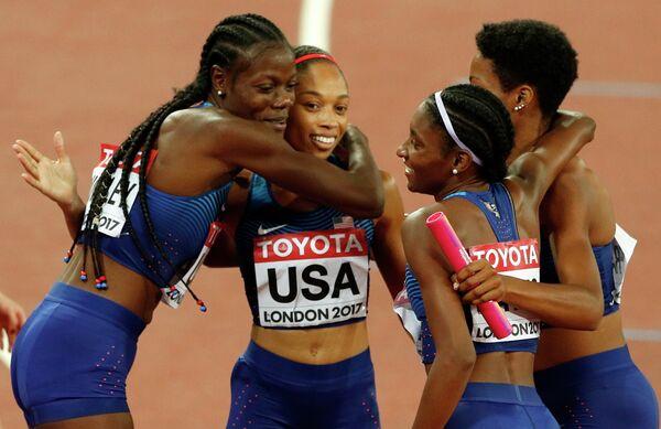 Спортсменки сборной США по легкой атлетике