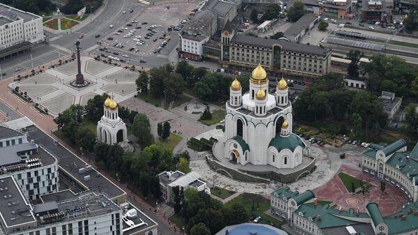 Кафедральный собор Христа Спасителя и площадь Победы в Калининграде