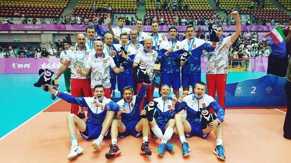 Волейболисты сборной России, выступавшие на Универсиаде в Тайбэе