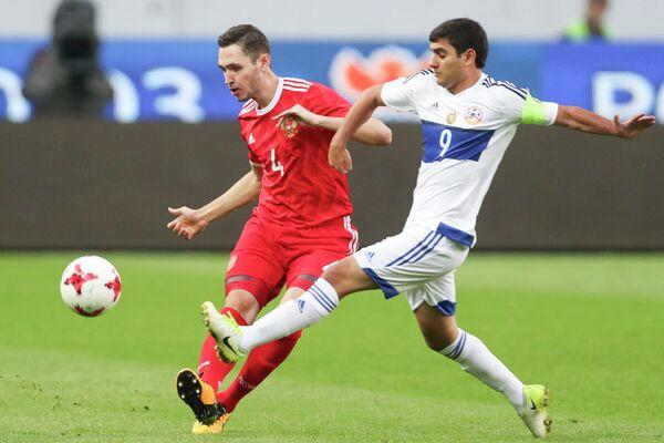 Игровой момент матча молодежных сборных России и Армении