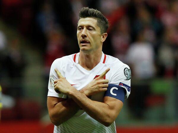 Нападающий сборной Польши по футболу и немецкой Баварии Роберт Левандовский
