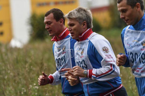 Михаил Дегтярев, Павел Колобков и Юрий Борзаковский (слева направо)
