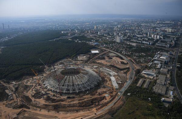 Строящийся стадион Самара Арена