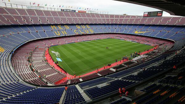 Стадион Камп Ноу перед началом матча седьмого тура чемпионата Испании между Барселоной и Лас-Пальмасом