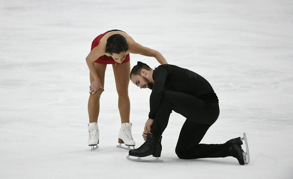 Ксения Столбова и Федор Климов на турнире Finlandia Trophy.