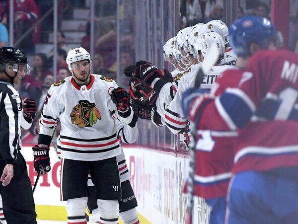 Российский форвард клуба НХЛ Чикаго Блэкхокс Артем Анисимов