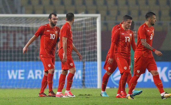 Футболисты сборной Македонии