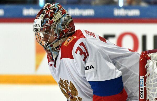 Вратарь сборной России Илья Сорокин