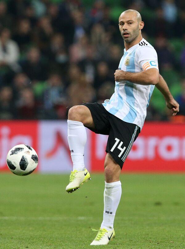 Хавбек сборной Аргентины Хавьер Маскерано