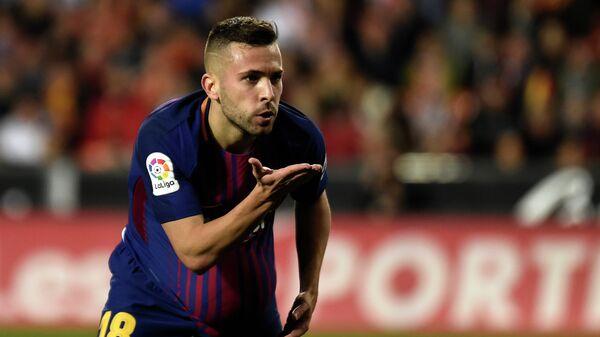 Защитник испанской Барселоны Жорди Альба