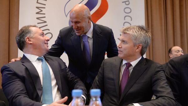 Станислав Поздняков, Михаил Мамиашвили и Павел Колобков (слева направо)