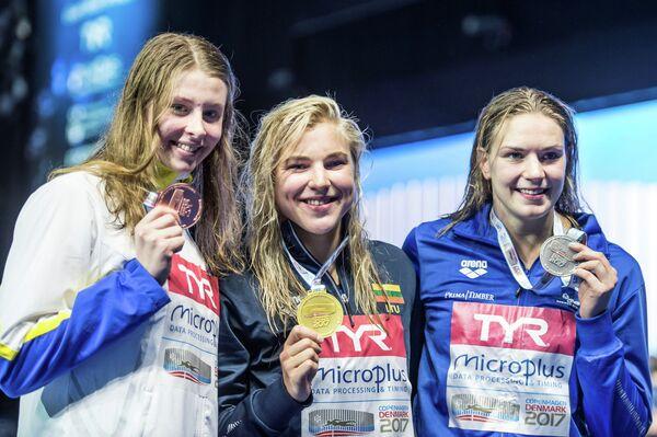Софи Ханссон, Рута Мейлютите,  Енна Лаукканен (слева направо)