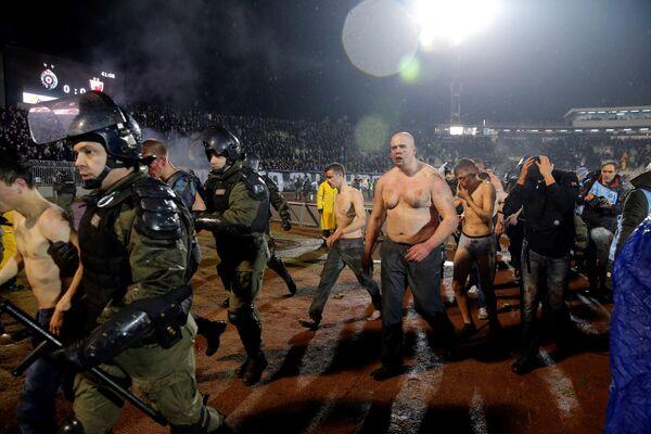 Арестованные фанаты Партизана