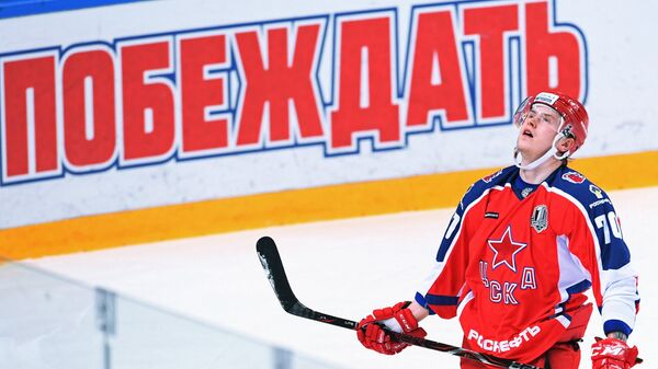 Нападающий ПХК ЦСКА Сергей Шумаков