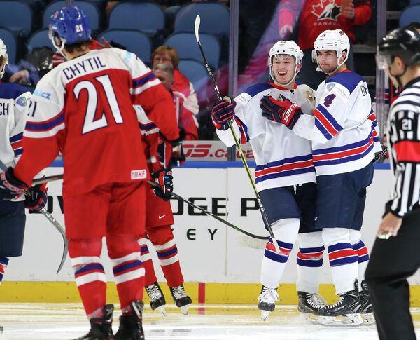 Финал молодежного чемпионата мира по хоккею между США и Чехией