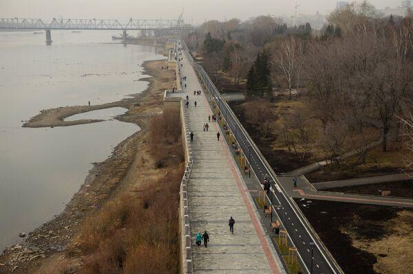 Набережная реки Обь в Новосибирске