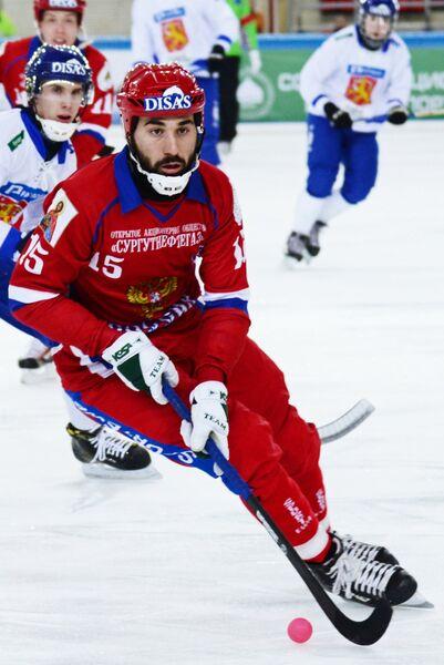 Игрок сборной России Алан Джусоев