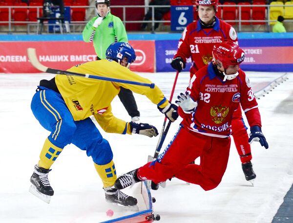 Хоккей с мячом. Чемпионат мира. Матч Швеция - Россия