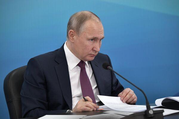 Рабочая поездка президента РФ В. Путина в Красноярск