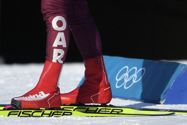 Олимпийская спортсменка из России на тренировке в лыжном центре Альпензия