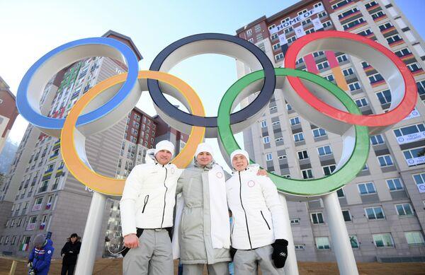 Владислав Антонов, Андрей Богданов и Андрей Медведев (слева направо)
