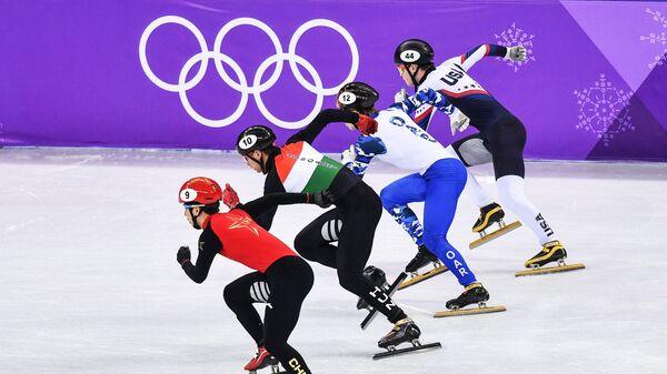 Хань Тяньюй, Шаолинь Шандор Лю, Семен Елистратов и Джон-Генри Крюгер (слева направо)