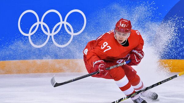 Нападающий сборной России Никита Гусев