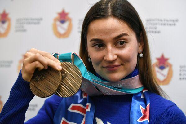 Лыжница Юлия Белорукова