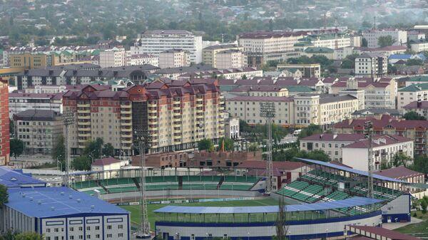 Вид на стадион имени Султана Билимханова в Грозном
