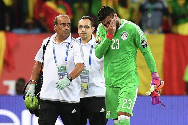 Голкипер сборной Египта Ахмед Эль-Шенави