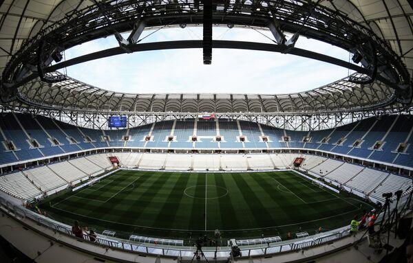 Стадион Волгоград Арена, на котором пройдет матч финала Кубка России Авангард - Тосно