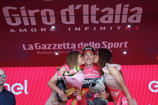 Итальянский велогонщик Энрико Баттальин