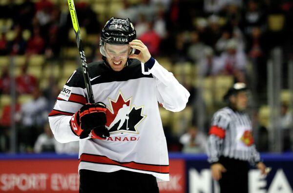 Нападающий сборной Канады по хоккею Коннор Макдэвид