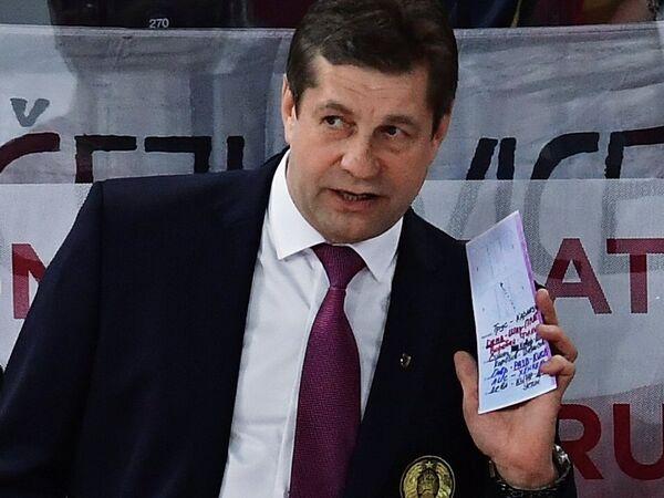 Исполняющий обязанности главного тренера сборной Белоруссии по хоккею Сергей Пушков