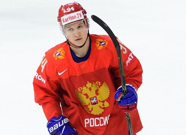 Форвард сборной России Александр Барабанов