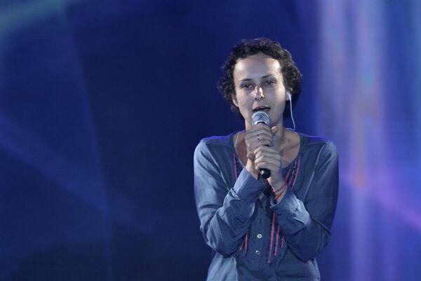 Певица Юлия Чичерина выступает на церемонии вручения премии Я-гражданин