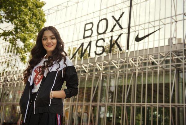 Евгения Медведева на открытии Nike Box MSK