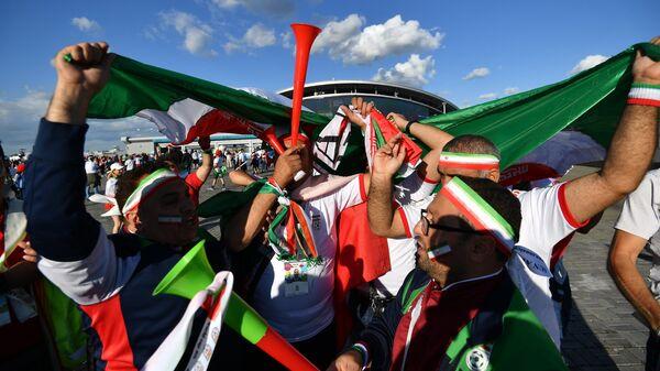 Болельщики сборной Ирана перед началом матча
