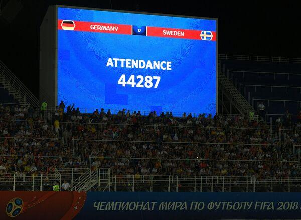 Электронное табло с информацией о количестве зрителей