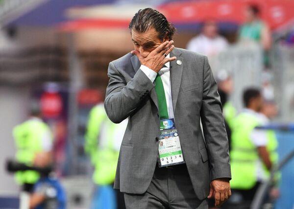 Главный тренер сборной Саудовской Аравии Хуан Антонио Пицци