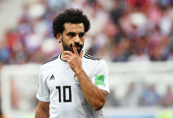Полузащитник сборной Египта Мохамед Салах