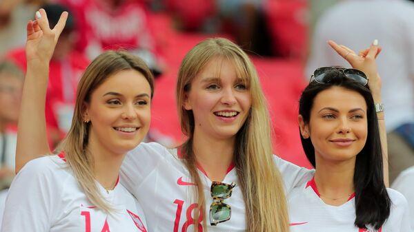 Болельщицы сборной Польши