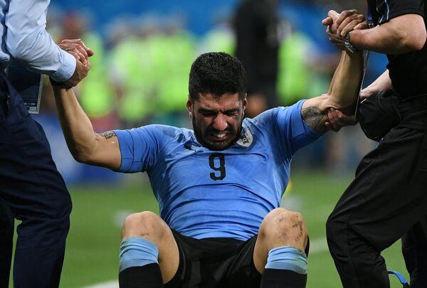 Нападающий уругвайцев Луис Суарес