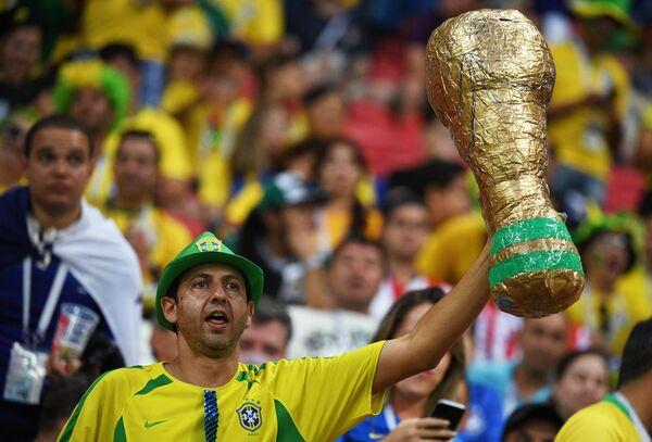 Болельщик сборной Бразилии