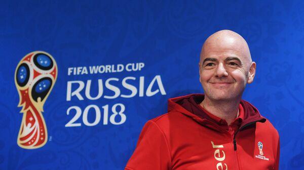 Пресс-конференция президента ФИФА Джанни Инфантино