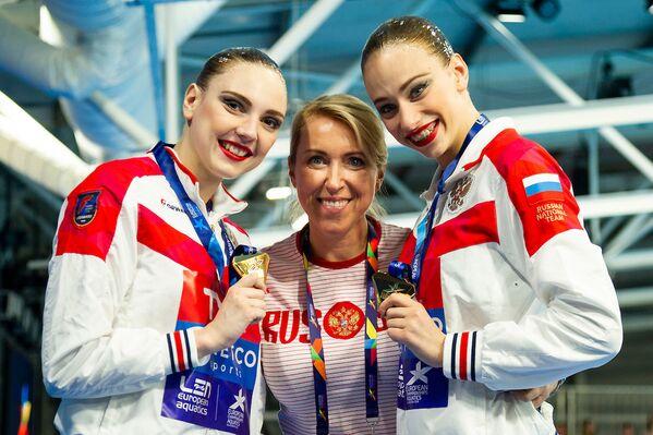 Российские синхронисты после победы на ЧЕ