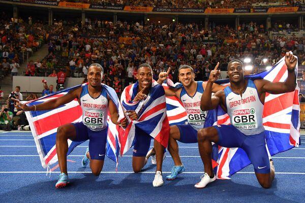 Сборная Великобритании выиграла эстафету 4х100 на ЧЕ