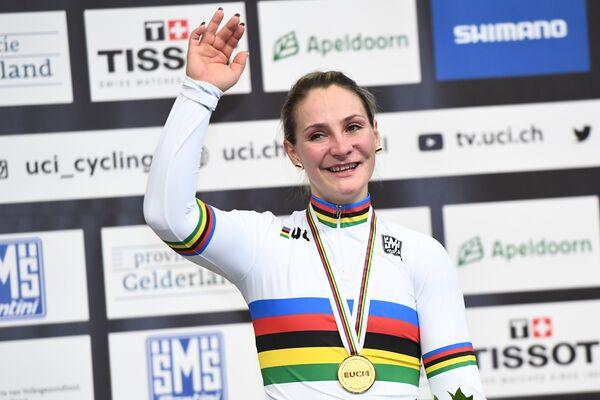 Немецкая велогонщица Кристина Фогель
