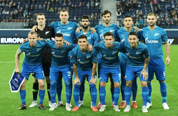 Стартовый состав Зенита перед матчем Лиги Европы против Славии