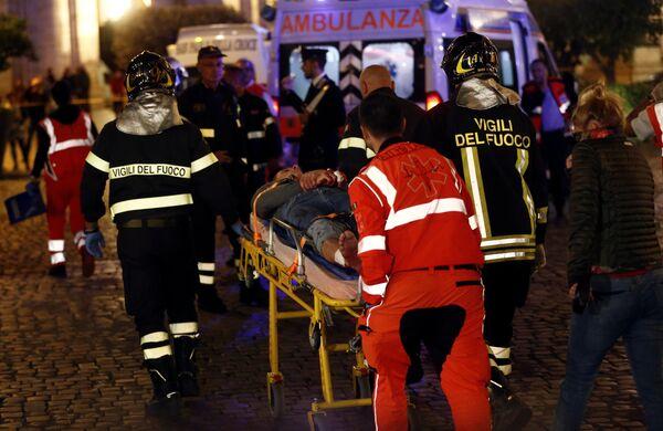 Раненому болельщику ЦСКА оказывают помощь в Риме